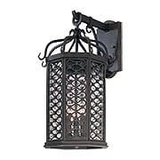 Los Olivos Large 3-Light Exterior Sconce in Old Iron (item #RS-03TL-B2373X)