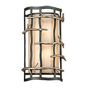 Adirondack Sconce with Glass Shade in Silver Leaf (item #RS-03TL-B2882X)