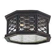 Los Olivos Flush-Mount Exterior Ceiling Light in Old Iron (item #RS-03TL-C2370X)