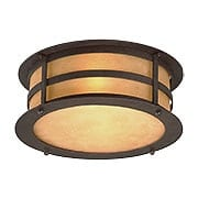 Aspen Flush-Mount Ceiling Light in Natural Bronze (item #RS-03TL-C9251X)