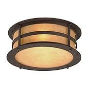 Aspen Flush-Mount Ceiling Light in Natural Bronze (item #RS-03TL-C9251X)
