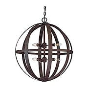 Flatiron Collection 6 Light Pendant in Weathered Iron (item #RS-03TL-F2516X)
