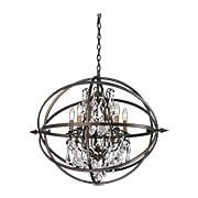 Byron Collection 5 Light Chandelier in Vintage Bronze (item #RS-03TL-F2996X)