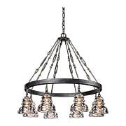 Menlo Park 8-Light Chandelier in Old Silver (item #RS-03TL-F3136X)