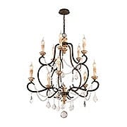 Bordeaux Collection 10 Light Chandelier in Parisian Bronze (item #RS-03TL-F3516X)