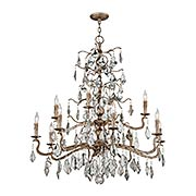 Siena Two Tier 12-Light Chandelier (item #RS-03TL-F4746)