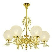 Dawson 6 Light Gas Chandelier With 4