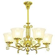 "Eureka 6 Light Gas Chandelier With 4"" Fitters (item #RS-03VL-C23G6X)"