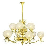 "Coronado 12 Light Gas Chandelier With 4"" Fitters (item #RS-03VL-C43G12X)"