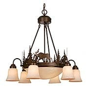 Yellowstone 9-Light Bowl Chandelier (item #RS-03VX-CH55606BBZ)