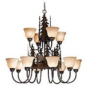 Yellowstone Two Tier 12-Light Chandelier (item #RS-03VX-CH55612BBZ)
