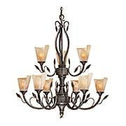 Capri Floral 9-Light Chandelier (item #RS-03VX-CP-CHU009BW)