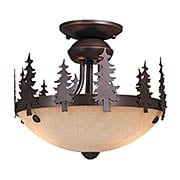 Yosemite Semi Flush-Mount Ceiling Light (item #RS-03VX-LK55512BBZ-C)