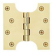 "4"" x 4"" Premium Brass Parliament Door Hinge (item #RS-04DH-DSPA4040X)"