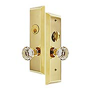 Harrison Mortise Entry Set with Astoria Crystal-Glass Knobs (item #RS-05EM-3551ASX)