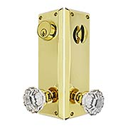 Quincy Entry Set with Astoria Crystal Glass Knobs (item #RS-05EM-8980ASX)