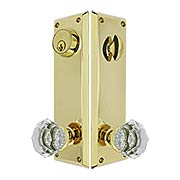 Quincy Entry Set with Old-Town Crystal Glass Knobs (item #RS-05EM-8980OTX)