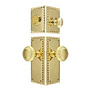 Ovolo Entry Door Set with Matching Knobs (item #RS-05NW-CP-AEDAEDX)