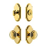 Grandeur Arc Entry Door Set with Circulair Knobs (item #RS-05NW-CP-ARCCIRX)