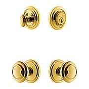 Grandeur Circulaire Entry Door Set with Circulaire  Knobs (item #RS-05NW-CP-CIRCIRX)