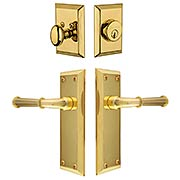 Grandeur Fifth-Avenue Entry Door Set with Georgetown Levers (item #RS-05NW-CP-FAVGEOX)