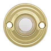 Round Solid Brass Doorbell Button - 1 3/4