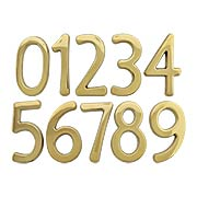 Solid-Brass House Numbers - 6