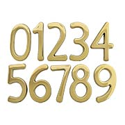 Solid-Brass House Numbers - 4