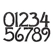 Hammered Surface House Numbers - 5 1/2