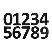 Solid-Bronze Schoolhouse Numbers - 6