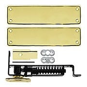 Heavy Duty Swinging Door Floor Hinge With Solid Brass Cover Plates (item #RS-06DH-DASH95X)