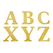 Premium Brass House Letters - 4