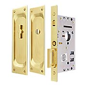 Privacy Pocket Door Mortise Lock Set With Rectangular Pulls (item #RS-06EM-2105X)