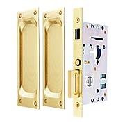 Dummy Pocket Door Mortise Set With Rectangular Pulls (item #RS-06EM-2106X)