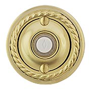 Doorbell Button with Rope Rosette (item #RS-06EM-2401X)