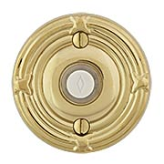 Doorbell Button with Ribbon and Reed Rosette (item #RS-06EM-2407X)