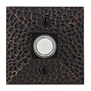 Doorbell Button with Hammered Surface Rosette (item #RS-06EM-2452X)
