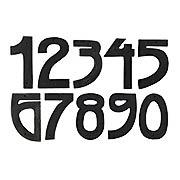 Arts & Crafts Dark-Bronze House Numbers - 5
