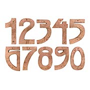 Arts & Crafts Tumbled-Copper House Numbers - 5