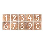 Arts & Crafts House Number Tiles - 5