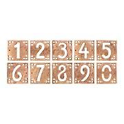 Arts & Crafts House Number Tiles - 5