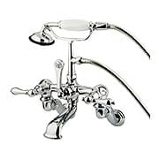 Huron Wall-Mount Clawfoot Tub Faucet with American Levers - 12