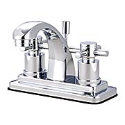 Delray Centerset Bathroom Faucet with Bauhaus Cross Handles (item #RS-07KB-KS464DXX)