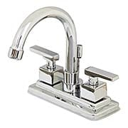 Delray Centerset Bathroom Faucet with Gooseneck Spout and Contemporary Levers (item #RS-07KB-KS866QLLX)