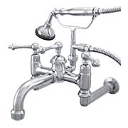 Laguna Wall-Mount Clawfoot Tub Faucet with American Levers (item #RS-07SC-P1080X)