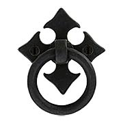 Fleur-de-Lis Bronze Ring Pull (item #RS-08AN-6331X)