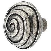 Swirl Cabinet Knob - 1 13/16