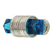 Chrysalis Cerulean Blue Glass T-Knob - 1 7/8 X 3/4-Inch (item #RS-08BW-B076303GC-14)