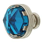 Chrysalis Cerulean Blue Glass Round Knob - 1 3/16-Inch Diameter (item #RS-08BW-B076304GC-14)