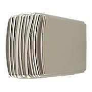 Fermata Cabinet Knob - 1 1/4 x 1 1/8-inch (item #RS-08BW-B077064X)